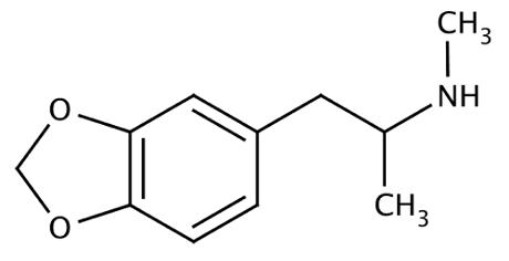 MDMA: נוסחה כימית - Methylenedioxymethamphetamine