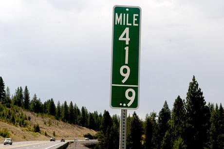 """השלט החדש באיידהו - """"סימן דרך 419.9"""""""