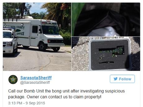 באנג במקום פצצה - ההודעה שיצאה ממשרד השריף בסרסוטה, פלורידה