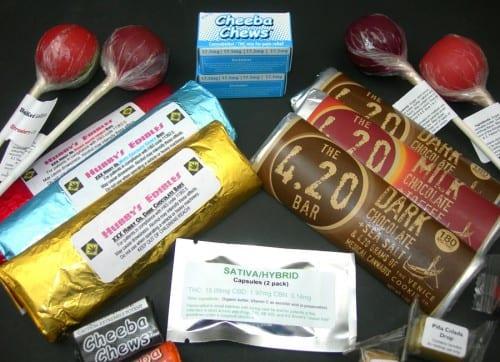 סוכריות, שוקולדים ומסטיקים המכילים THC