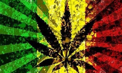 דגל קנאביס צהוב ירוק ואדום