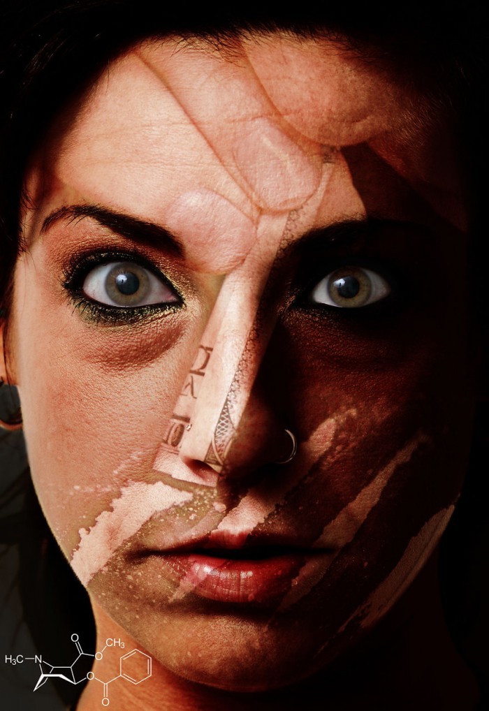אשה תחת השפעת קוקאין