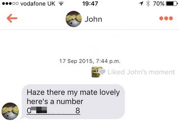 הודעה מסוחר סמים המכילה מספר טלפון להתקשרות