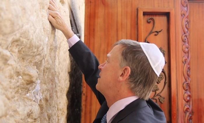 ג'ון היקנלופר מושל קולורדו בביקור בישראל