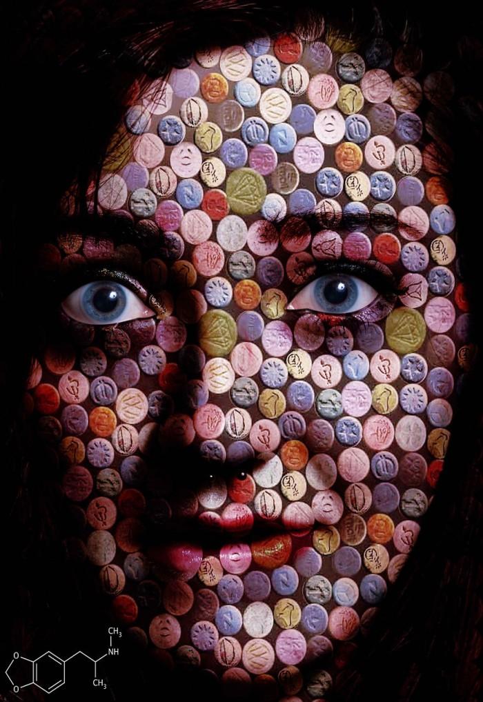 אשה תחת השפעת MDMA