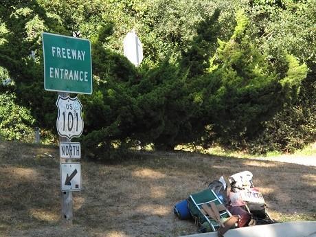 """שלט דרכים על כביש 101 בקליפורניה, ארה""""ב"""