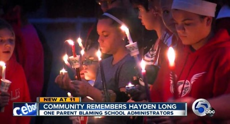הלוויתו של היידן לונג - תלמיד תיכון מאוהיו שהתאבד