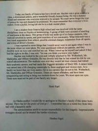 מכתב התאבדות של תלמיד תיכון מאוהיו