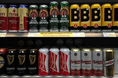 פחיות בירה בסופר בבריטניה