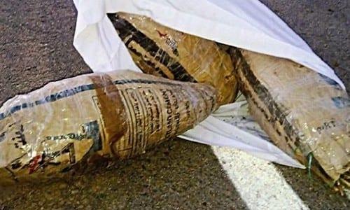 """75 ק""""ג מריחואנה שנתפסו בגבול מצרים"""