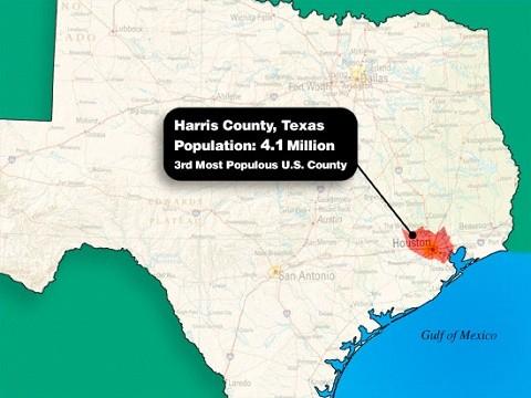 מחוז האריס שבטקסס - מעל 4 מיליון תושבים