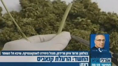 "Photo of פרופ' איתן פרידמן: ""שמן קנאביס עדיף על אופיאטים"""