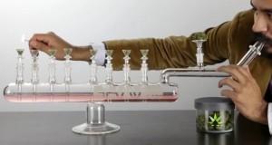 באנג חנוכייה מזכוכית