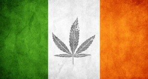 דגל אירלנד עם עלה קנאביס