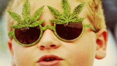 ילד עם משקפי מריחואנה