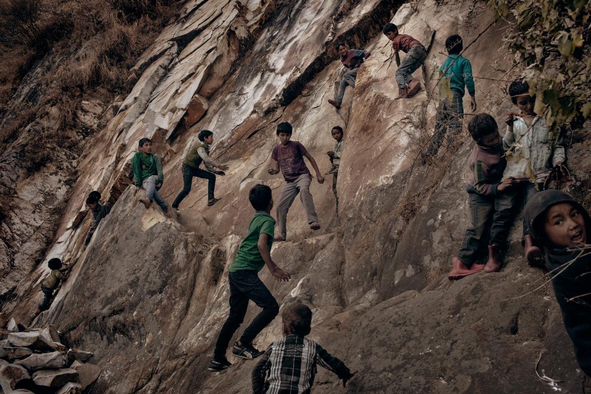 צעירים בכפר בהימלאיה - משתתפים בקטיף קנאביס