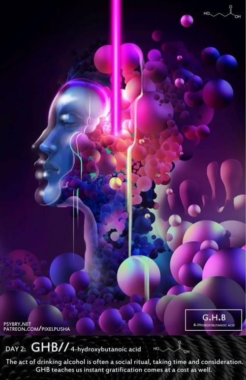 אמן מצייר תחת השפעת סמים