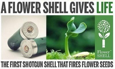 קליעים (רובה ציד) המכילים זרעי פרחים (כך תשתלו פרחים בקלות בעזרת רובה ציד)