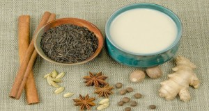 Ingredients for making chai latte with marijuana