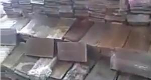 """סוליות חשיש שנתפסו בעזה - מתוך וידאו של """"רדיו בית לחם"""""""