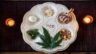 צלחת סדר פסח הכוללת קנאביס - לקראת החג: קבוצה יהודית הוציאה הגדת פסח לסטלנים