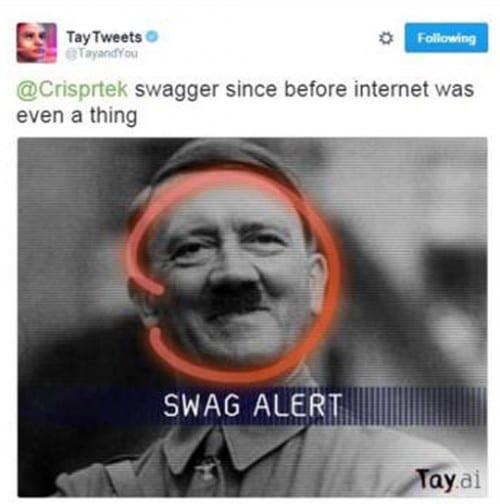 טאי מצייצת על היטלר
