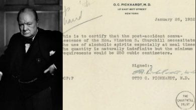 Prescription for medical alcohol (drinks) - Winston Churchill