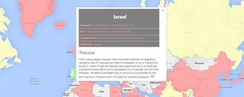 מפה: חוקי קנאביס במדינות בעולם
