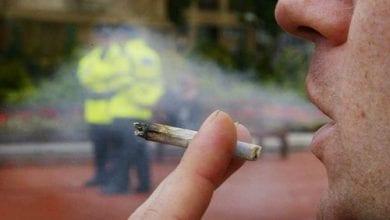 אדם מעשן ג'וינט קנאביס מול שוטרים (מתוך מדריך: שוטר תפס אתכם עם ג'וינט? מה עושים ומה לא)