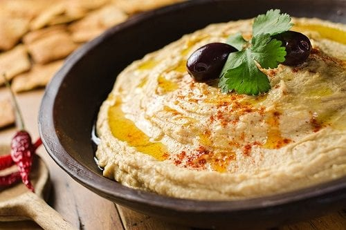 The best in the house - fresh hummus in home preparation