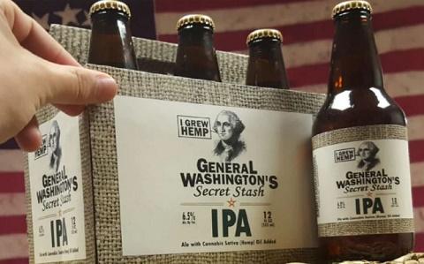 בירה מהמותג 'General Washington's Secret Stash' - בירה עם CBD (בירת קנאביס)