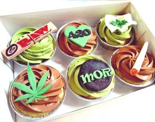 עוגות בצורת קנאביס