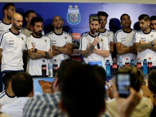 נבחרת ארגנטינה במסיבת עיתונאים