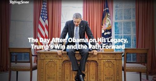 ברק אובמה בשער כתבת הרולינג סטון