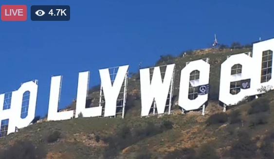 שלט הוליווד הוחלף ל הוליוויד