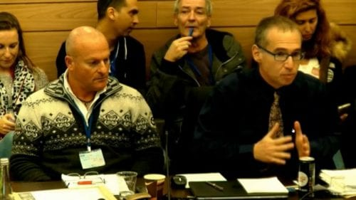 Shlomi Sendak in het Knesset Health Committee