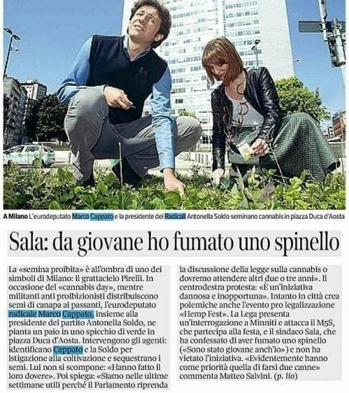 אנטונלה סולדו בעיתון איטלקי