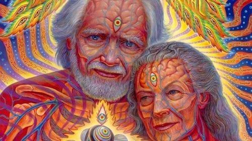 אלכסנדר שולגין ואשתו בציור של אלכס גריי