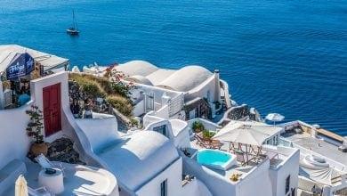 נוף בתים ים יוון