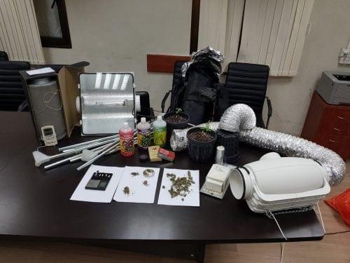 ממצאי המעצר - מעט פרחי קנאביס