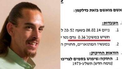 Photo of כתב אישום על 0.3 גרם חשיש – המדינה דורשת מאסר