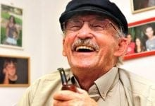 An old man laughs Cannabis
