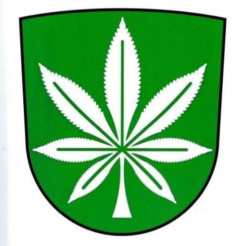עלה קנאביס - סמל מחוז קנפי אסטוניה