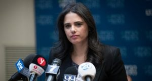 Ayelet Shaked, Minister of Justice (Photo: Jonathan Zindel, Flash 90)