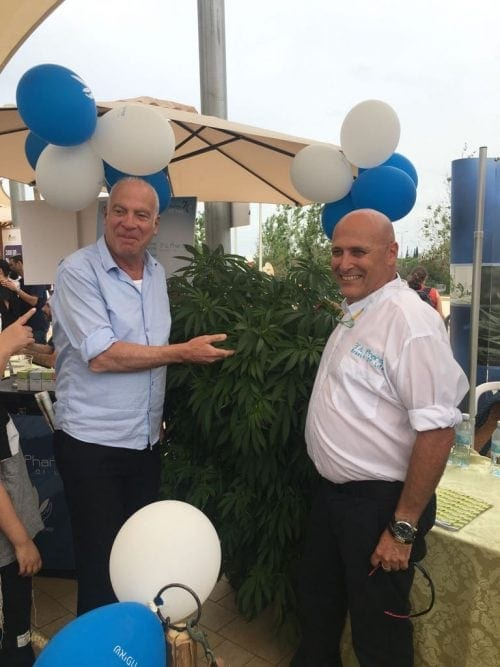 אורי אריאל עם צמח קנאביס וחגי הילמן
