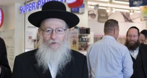 Yaakov Litzman against Super-Pharm (Photo: Hadas Porush, Flash 90)