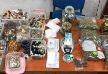 Perceptie Paddenstoelen en hash-koekjes en cannabisolie