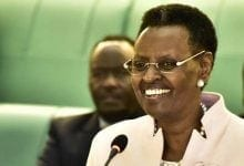 Janet Museveni, senior politician, cabinet member and first lady of Uganda at 33 in recent years