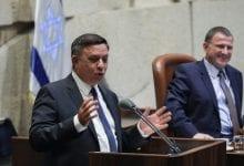 אבי גבאי בנאום הבכורה בכנסת (צילום: נועם רבקין, פלאש90)