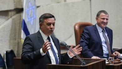 Ави Габай в первой речи Кнессета (Фото: Ноам Рабкин, Флэш 90)